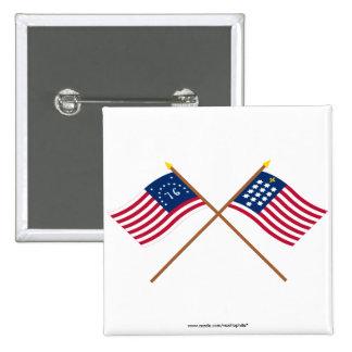Banderas cruzadas de Alliance de Bennington y del  Pin
