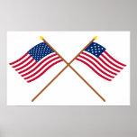 Banderas cruzadas de Alliance de los E.E.U.U. y de Impresiones