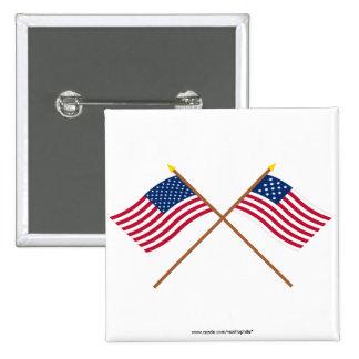 Banderas cruzadas de Alliance de los E.E.U.U. y de Pin
