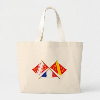 Banderas cruzadas de Alsacia y de Haut-Rhin Bolsa De Mano