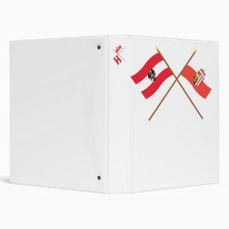 """Banderas cruzadas de Austria y de Oberösterreich Carpeta 1"""""""