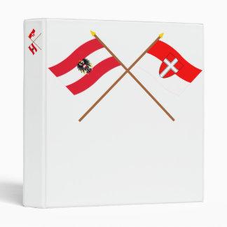 """Banderas cruzadas de Austria y de Wien Carpeta 1"""""""