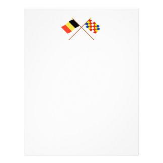 Banderas cruzadas de Bélgica y de Amberes Plantilla De Membrete