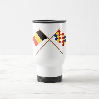 Banderas cruzadas de Bélgica y de Amberes Tazas