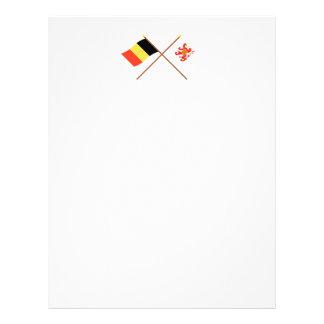 Banderas cruzadas de Bélgica y de Limbourg Plantillas De Membrete