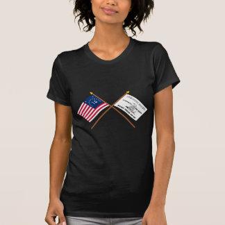 Banderas cruzadas de Bennington y de Culpeper Camisas