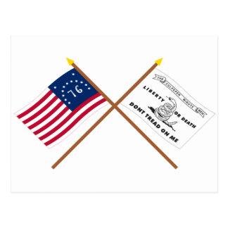 Banderas cruzadas de Bennington y de Culpeper Postal