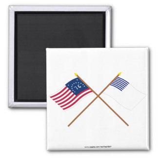Banderas cruzadas de Bennington y de Forster Imán Para Frigorifico