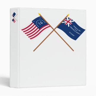 Banderas cruzadas de Bennington y de George Rex Carpeta 2,5 Cm