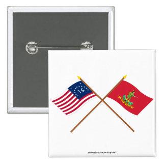Banderas cruzadas de Bennington y de Hannover Asso Pin