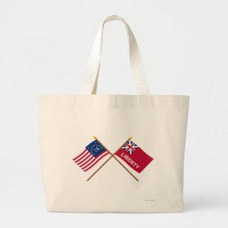 Banderas cruzadas de Bennington y de la libertad Bolsa De Mano