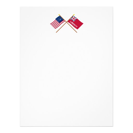Banderas cruzadas de Bennington y de la libertad Membretes Personalizados