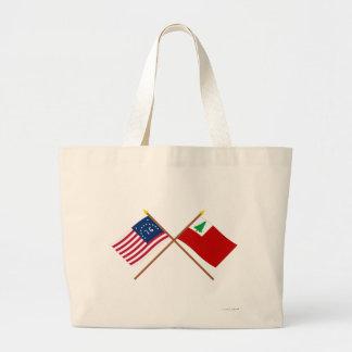 Banderas cruzadas de Bennington y de Nueva Inglate Bolsa