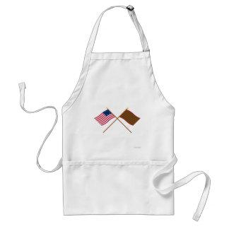 Banderas cruzadas de Betsy Ross y del pie Sackvill Delantal