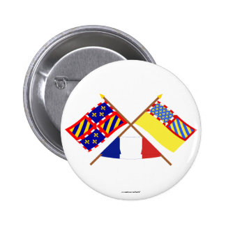 Banderas cruzadas de Borgoña y de Côte-d'Or Pins