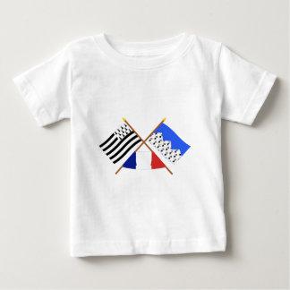 Banderas cruzadas de Bretaña y de Côtes-d'Armor Tee Shirt