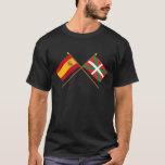 Banderas cruzadas de España y de País Vasco Playera