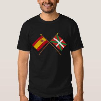 Banderas cruzadas de España y de País Vasco Poleras