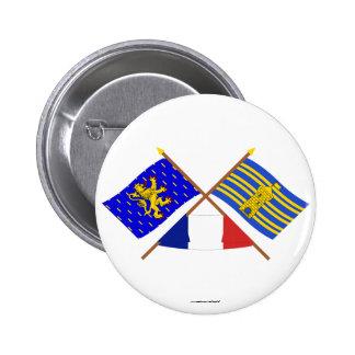 Banderas cruzadas de Franche-Comté y de Terr. Belf Pin