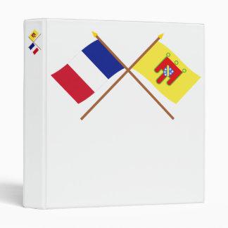 """Banderas cruzadas de Francia y de Cantal Carpeta 1"""""""