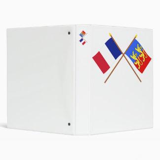 """Banderas cruzadas de Francia y de la Mancha Carpeta 1"""""""