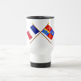 Banderas cruzadas de Francia y de Vaucluse Taza De Café