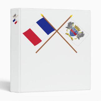"""Banderas cruzadas de Francia y del Carpeta 1"""""""