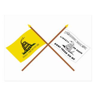 Banderas cruzadas de Gadsden y de Culpeper Postal