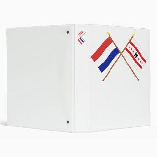 """Banderas cruzadas de Holanda y de Drente Carpeta 1"""""""