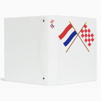 """Banderas cruzadas de Holanda y de Noord-Brabant Carpeta 1"""""""