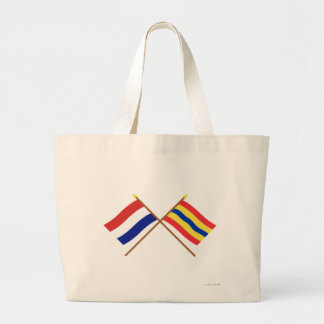 Banderas cruzadas de Holanda y de Overijssel Bolsas De Mano