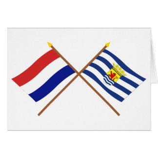 Banderas cruzadas de Holanda y de Zelanda Tarjeta De Felicitación