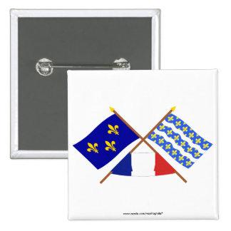 Banderas cruzadas de Île-de-Francia y del Seine-et Pin