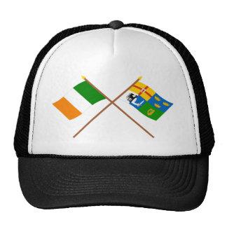 Banderas cruzadas de Irlanda y de la Cuatro-Provin Gorro