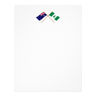 Banderas cruzadas de la isla de Australia y de Nor Membrete Personalizado