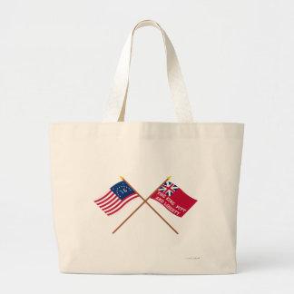 Banderas cruzadas de la libertad de Bennington y d Bolsa De Mano