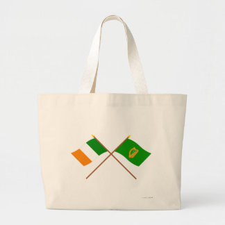 Banderas cruzadas de la provincia de Irlanda y de  Bolsa De Mano
