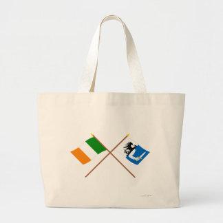 Banderas cruzadas de la provincia de Irlanda y de  Bolsas