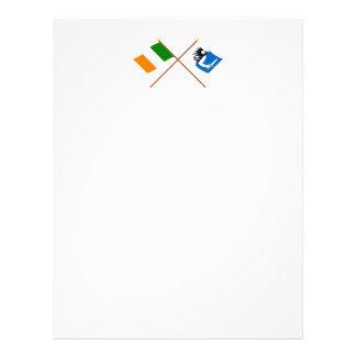 Banderas cruzadas de la provincia de Irlanda y de Membrete