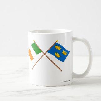 Banderas cruzadas de la provincia de Munster Tazas De Café