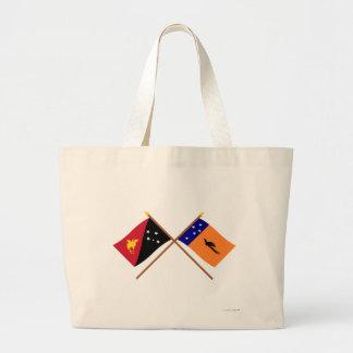 Banderas cruzadas de la provincia del png y de nue bolsas