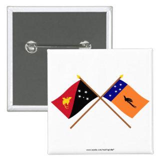 Banderas cruzadas de la provincia del png y de nue pin