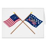 Banderas cruzadas de la rebelión de Bennington y d Tarjetas