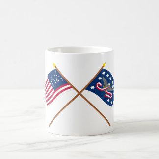Banderas cruzadas de la rebelión de Bennington y Taza De Café