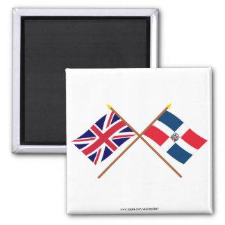 Banderas cruzadas de la República BRITÁNICA y Domi Imán Para Frigorífico