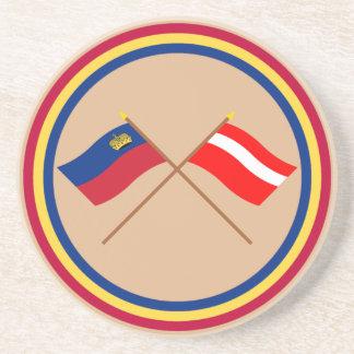 Banderas cruzadas de Liechtenstein y de Vaduz Posavasos Para Bebidas