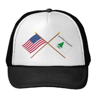 Banderas cruzadas de los cruceros de los E E U U Gorra