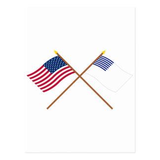 Banderas cruzadas de los E.E.U.U. y de Forster Postal