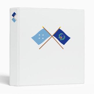 """Banderas cruzadas de Micronesia y de Pohnpei Carpeta 1"""""""