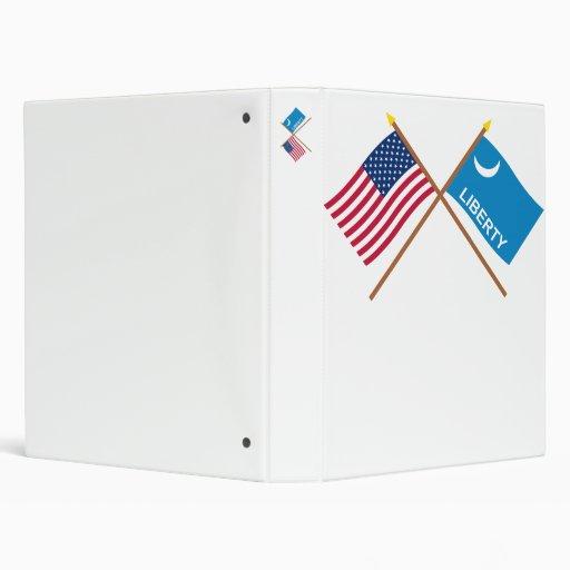 """Banderas cruzadas de Moultrie de los E.E.U.U. y Carpeta 1"""""""